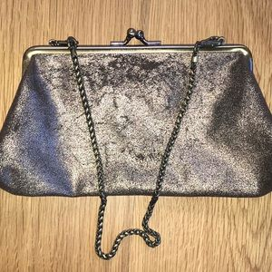KENNETH COLE REACTION Distressed Leather Clutch